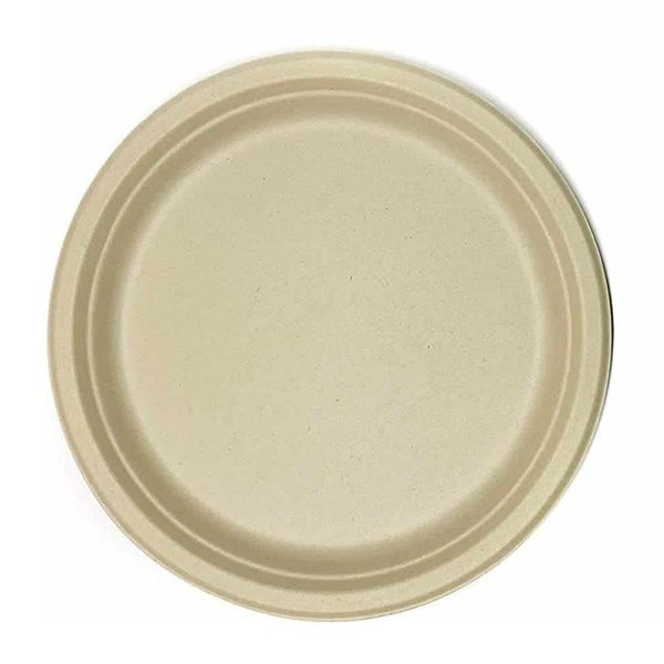 Disposable Green - Round Bagasse Plate
